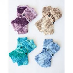 Cozy Posy - Fingerless Gloves