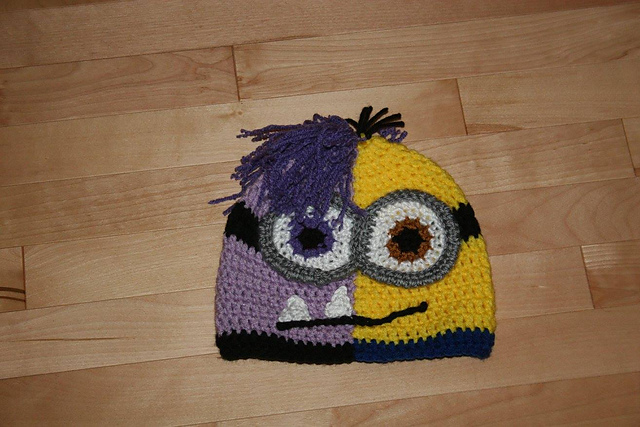 Crochet Patterns Galore Half And Half Minion Hat
