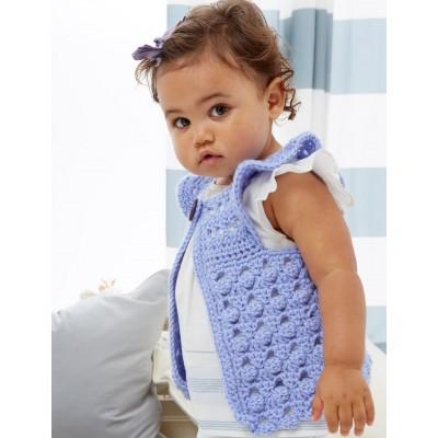 Crochet Patterns Galore Flutter Bye Baby Vest