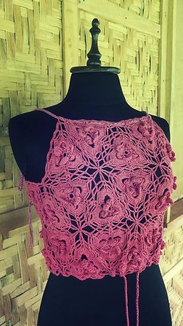 Crochet Patterns Galore Triangle Flower Motif Top
