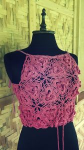 Triangle Flower Motif Top