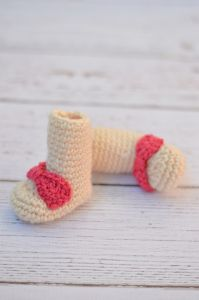 Simple Newborn Booties