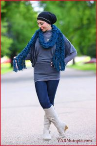 Chunky Bobble Stitch Scarf