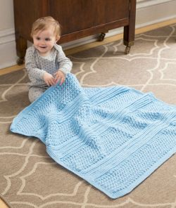Faux Ribbed Baby Blanket