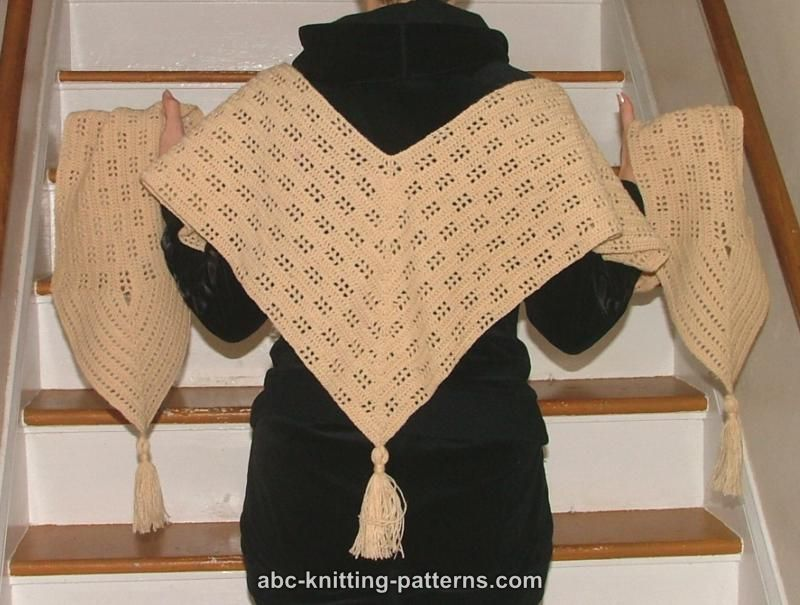 Crochet Patterns Galore Angled Lace Scarf
