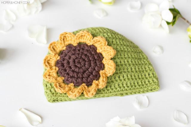 Crochet Patterns Galore - Sunflower Baby Hat