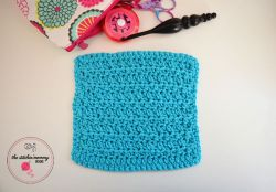 Ribbed Half Double Crochet Dishcloth