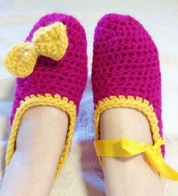 Easy Chunky Ballerina Slippers