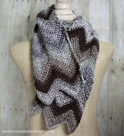 Iced Coffee Chevron Scarf