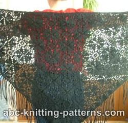 Black Motif Shawl