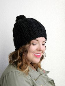 Chunky Ribbed Slouch Hat