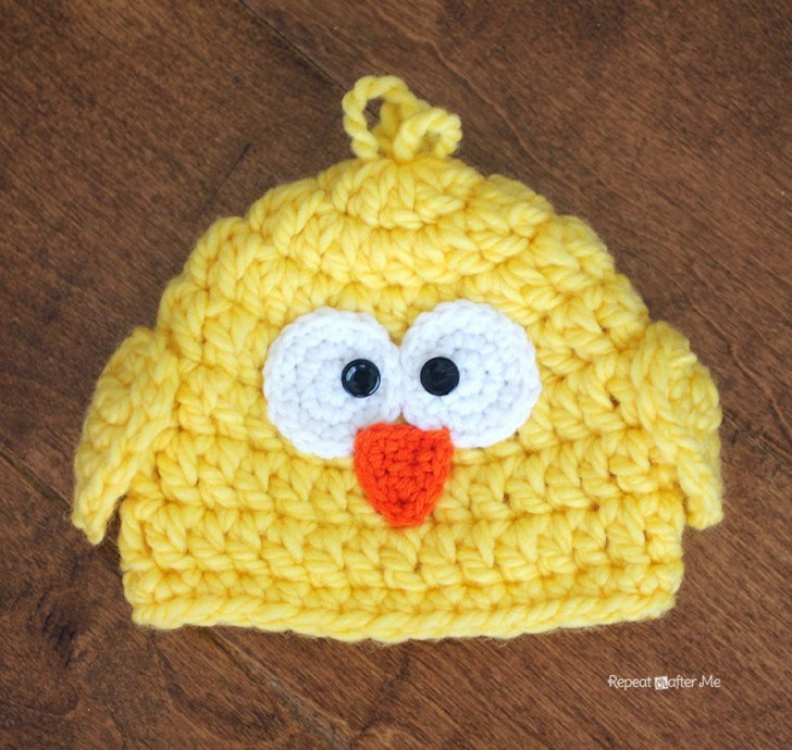 Crochet Baby Hat Pattern With Super Bulky Yarn : Crochet Patterns Galore - Chunky Baby Chick Hat