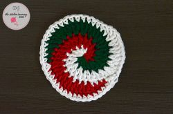 Holiday Swirled Coasters