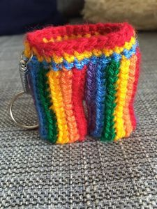 Rainbow Shorts Keyring