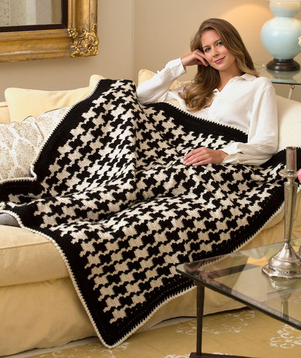 Crochet Patterns Galore - Houndstooth Throw