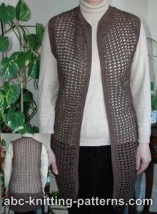 Crochet Shell Lace Vest