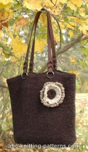 Felted Crochet Purse with 3-Color Flower