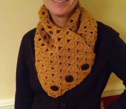 Crochet patterns galore loops threads 65 free patterns triangle cluster button cowl dt1010fo