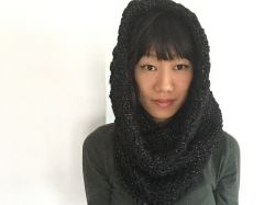 Super chunky hooded cowl