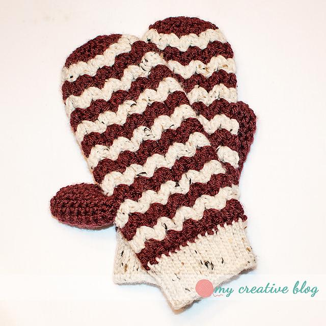 Free Crochet Zig Zag Hat Pattern : Crochet Patterns Galore - ZigZag Mittens