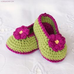 Fairy Blossom Baby Booties