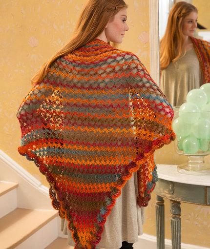 Crochet Patterns Galore - Summer of Love Shawl