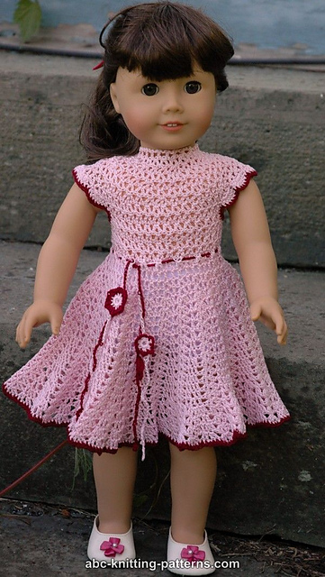 Crochet Patterns Galore American Girl Doll Apple Blossom Dress