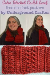 Color Blocked Co-Ed Scarf