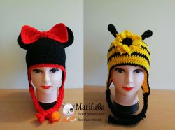 Minnie mouse and bee hat