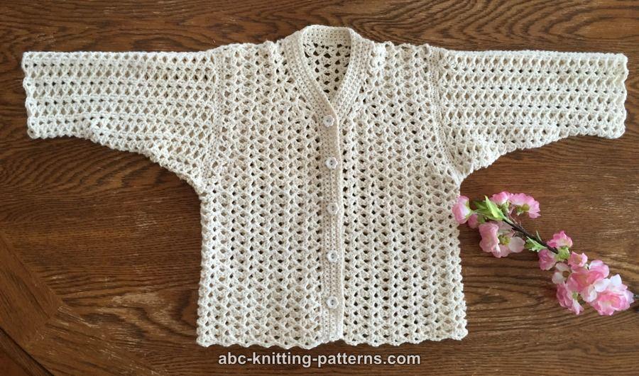 Crochet Patterns Galore Sweet Summer Baby Cardigan
