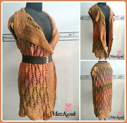 Sand Waves Long Vest