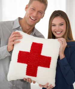Red Heart Cares Pillow