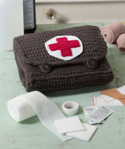 Crochet Patterns Galore Red Heart Cares First Aid Kit