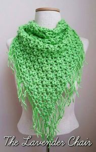 Clover Puff Triangle Scarf