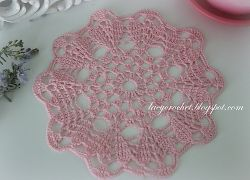 Small Pink Doily