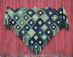 Summer Meadow Motif Shawl