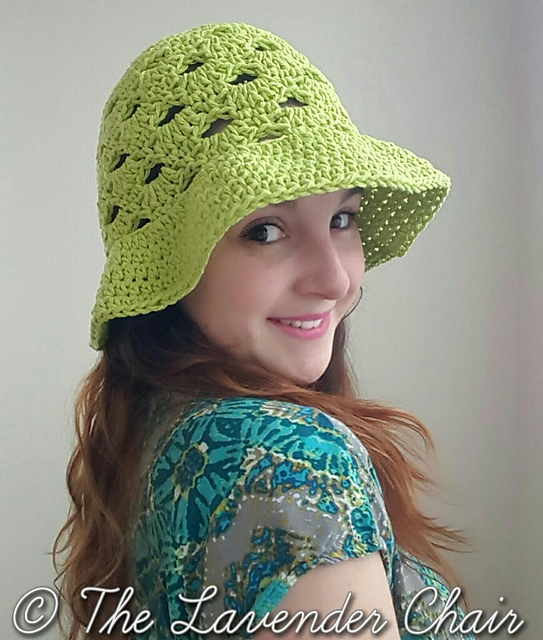 Crochet Patterns Galore Stacked Shells Floppy Sun Hat