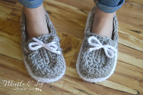 Crochet Patterns Galore Womens Chunky Boat Slippers