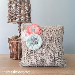 Throw Pillow with Removable Accent Flowers