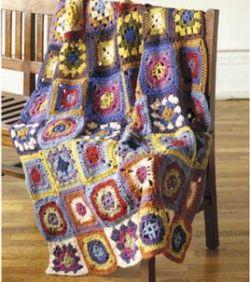 Free Crochet Pattern For Granny Square Sampler : Crochet Patterns Galore - Granny Sampler Throw