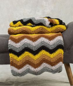 6-Color Radiating Ripple Throw