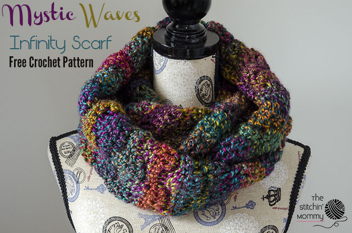 Crochet Patterns Galore Mystic Waves Infinity Scarf