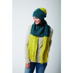 Color Burst Beanie & Scarf Set