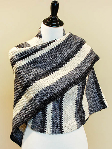 Crochet Patterns Galore Ombre Shawl