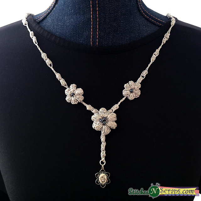 Crochet Patterns Galore Dew Drop Necklace