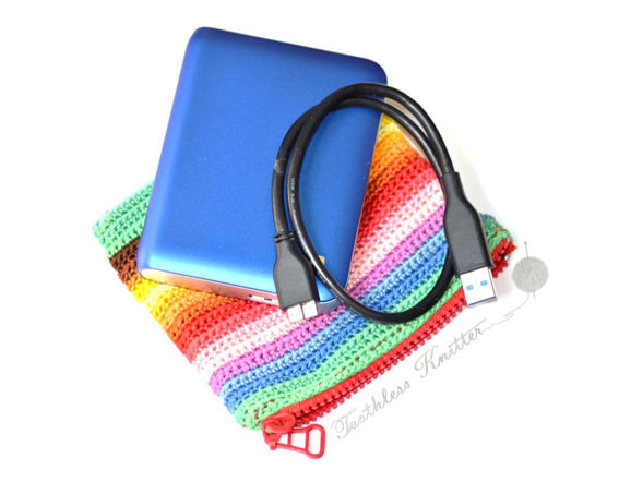 Crochet Patterns Galore Case For A Portable Hard Drive