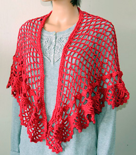 Crochet Patterns Galore Spanish Holiday Shawl