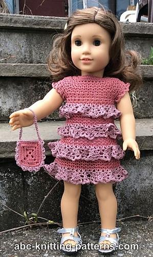 Crochet Patterns Galore American Girl Doll Evening Dress With Ruffles