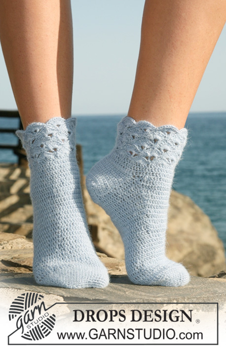 Crochet Patterns Galore Seaside Socks