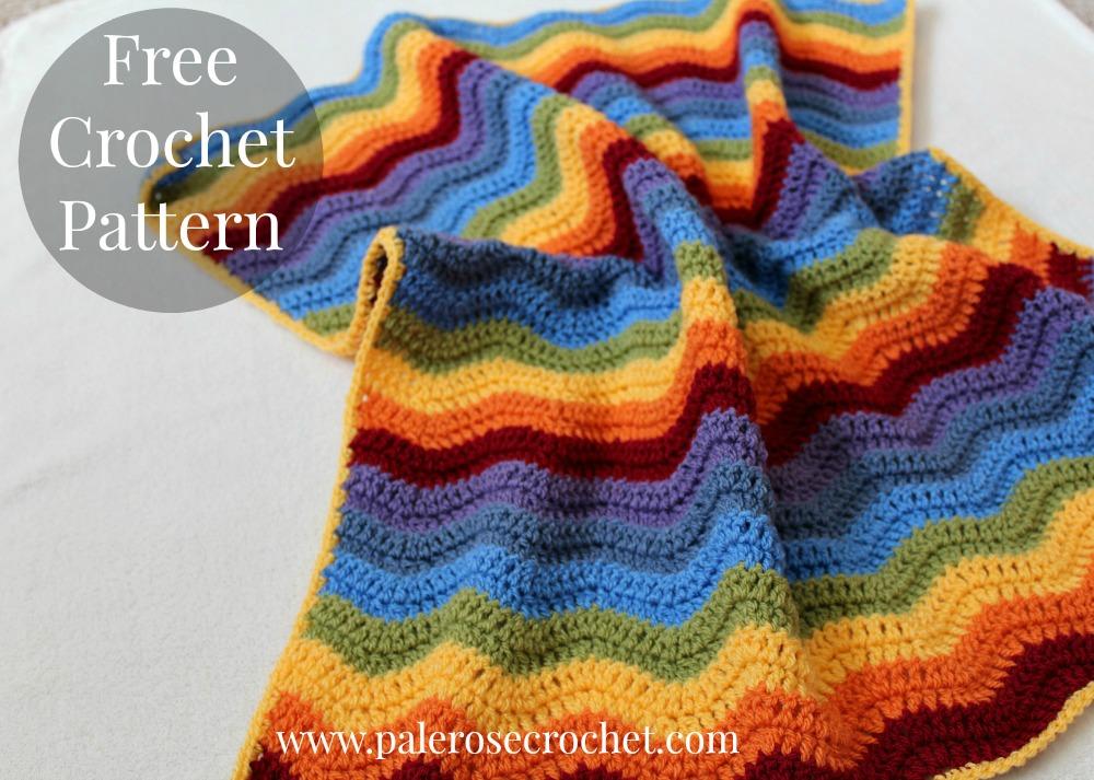 Boys Rainbow Crochet Blanket